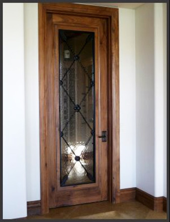 Wood Glass And Iron Doors Site Title