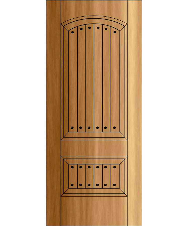 ED2102- Old World Rustic Door Two Panel Top Rail Flat Arch  sc 1 st  Handcrafted Millworks & Old World Rustic Doors | Site Title