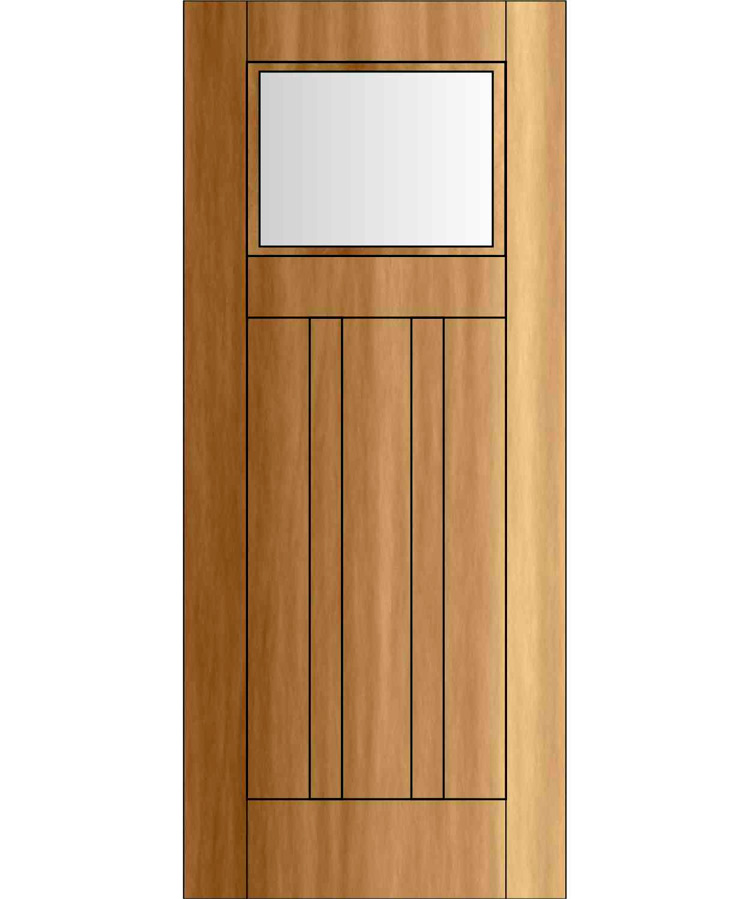EDG1504 \u2013 Craftsman/Bugalow Door Four Panel With Glass  sc 1 st  Handcrafted Millworks & Craftsman/ Bungalow Doors   Site Title