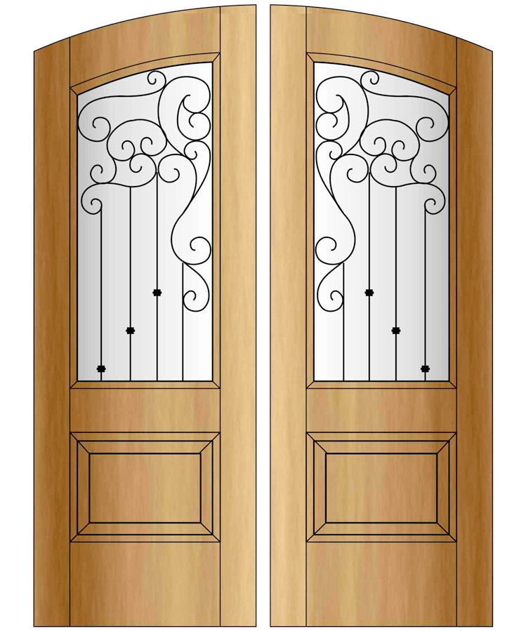 Flat Arch Doors With Glass Iron Site Title