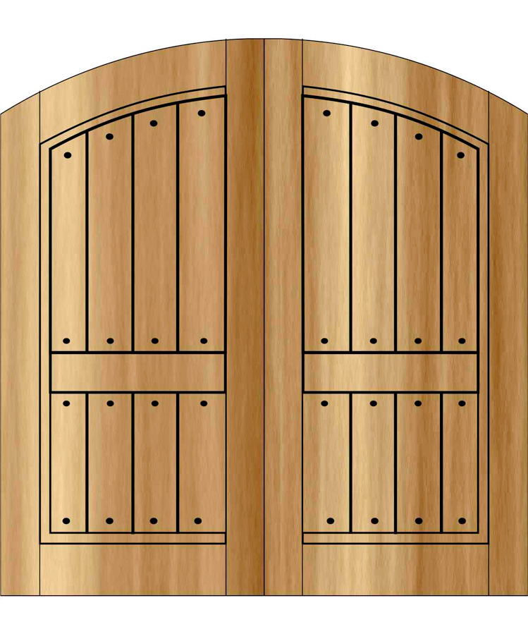 PR-ED7102- Old World Rustic Double Door Two Panel Top Rail True Arch  sc 1 st  Handcrafted Millworks & Old World Rustic Doors | Site Title